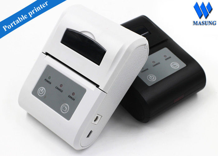 White Irda Portable Thermal Printer Bluetooth Android For Clinical Analyzer